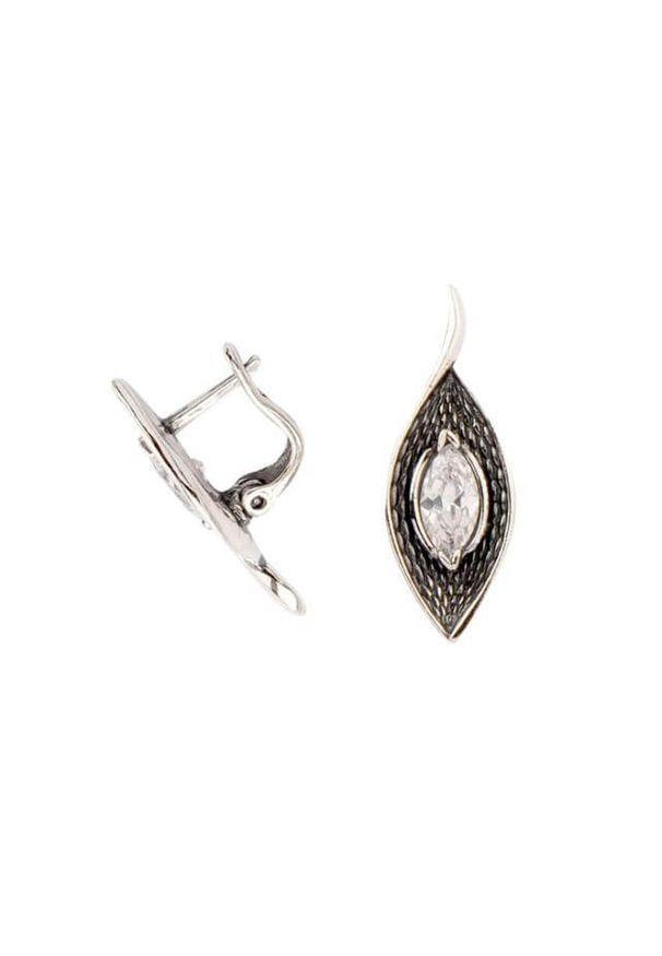 Polcarat Design - Srebro cyrkonie kolczyki K 1655. Materiał: srebrne. Kamień szlachetny: cyrkonia