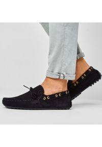 Czarne mokasyny Trussardi Jeans