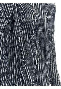 TOP SECRET - Sweter długi rękaw męski oversize we wzory. Kolor: szary. Materiał: jeans, prążkowany, dzianina. Długość rękawa: długi rękaw. Długość: długie. Sezon: jesień, zima. Styl: elegancki