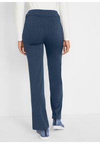 Niebieskie spodnie bonprix długie, sportowe, melanż