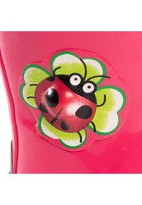 Różowe kalosze Playshoes z aplikacjami #6