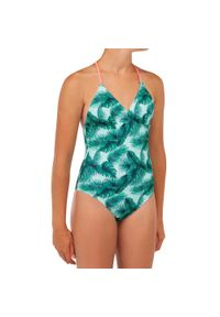 OLAIAN - Kostium kąpielowy jednoczęściowy HIMAE 500 AISAI dla dzieci. Materiał: poliester, materiał, elastan