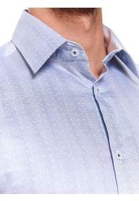 TOP SECRET - Koszula wzorzysta regularny krój. Kolor: niebieski. Materiał: bawełna. Długość rękawa: długi rękaw. Długość: długie. Sezon: zima