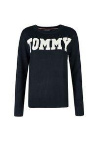 """TOMMY HILFIGER - Tommy Hilfiger Sweter """"Rachel Logo"""". Okazja: na co dzień. Materiał: dzianina. Wzór: haft, aplikacja. Styl: casual"""