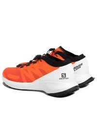 Pomarańczowe buty do biegania salomon z cholewką