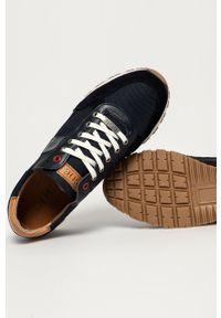 GOE - Buty. Nosek buta: okrągły. Zapięcie: sznurówki. Kolor: niebieski. Materiał: skóra