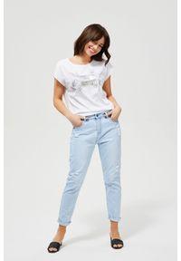 Niebieskie jeansy MOODO długie
