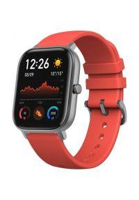 Pomarańczowy zegarek Xiaomi smartwatch