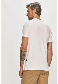G-Star RAW - G-Star Raw - T-shirt. Kolor: biały. Materiał: bawełna. Wzór: aplikacja