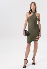 Born2be - Zielona Sukienka Oaralee. Kolor: czarny