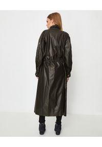 ISABEL MARANT - Czarny płaszcz ze ściągaczem. Kolor: czarny. Materiał: kaszmir, materiał. Długość rękawa: długi rękaw. Długość: długie. Styl: klasyczny