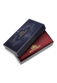 Wittchen - Damski portfel ze skóry lakierowany z monogramem. Kolor: czarny. Materiał: lakier, skóra. Wzór: aplikacja