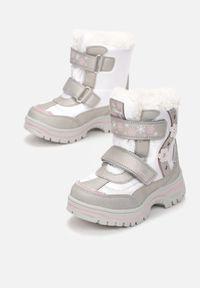 Born2be - Srebrne Śniegowce Frozenvalor. Kolor: srebrny