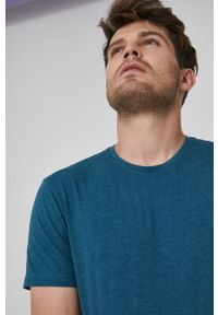 medicine - Medicine - T-shirt Basic. Kolor: turkusowy. Materiał: dzianina. Wzór: gładki