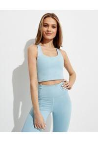 GIRLFRIEND COLLECTIVE - Niebieski top Paloma Sky. Kolor: niebieski. Materiał: tkanina, materiał. Długość rękawa: na ramiączkach