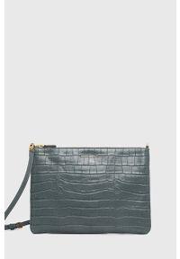Coccinelle - Torebka skórzana IV3 Mini Bag. Kolor: niebieski. Materiał: skórzane. Rodzaj torebki: na ramię