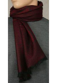 Czerwony szalik Teer elegancki, na jesień, na spacer