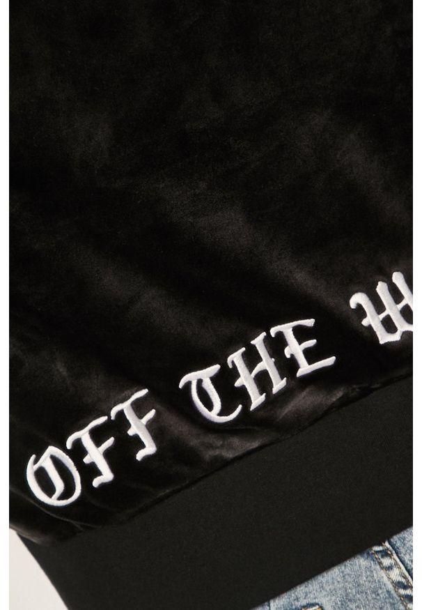 Czarna bluza Vans bez kaptura, z nadrukiem