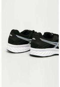 Czarne sneakersy Asics na sznurówki, z okrągłym noskiem