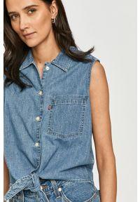 Levi's® - Levi's - Koszula bawełniana. Okazja: na co dzień, na spotkanie biznesowe. Kolor: niebieski. Materiał: bawełna. Styl: biznesowy, casual