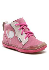 Bartek - Trzewiki BARTEK - 81844-002 Róż/Beż. Kolor: różowy. Materiał: skóra, zamsz. Szerokość cholewki: normalna