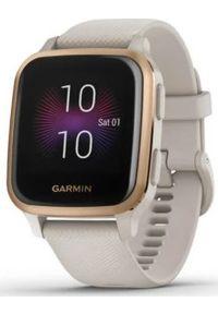 GARMIN - Zegarek sportowy Garmin Venu Sq Music Beżowy (010-02426-11). Kolor: beżowy. Styl: sportowy