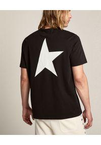 GOLDEN GOOSE - Czarna koszulka Star. Kolor: czarny. Materiał: bawełna. Wzór: aplikacja. Styl: klasyczny