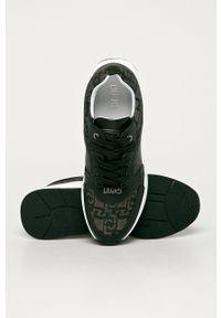 Czarne buty sportowe Liu Jo na średnim obcasie, z cholewką