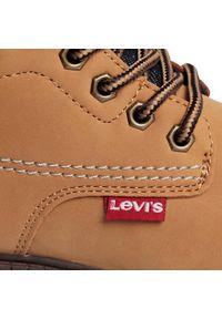 Beżowe buty zimowe Levi's® z cholewką, na spacer