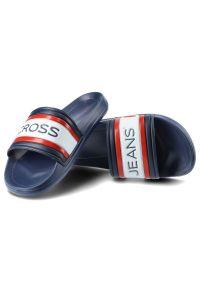 Cross Jeans - Klapki CROSS JEANS FF2R4160C Granat. Okazja: na plażę. Materiał: materiał. Styl: wakacyjny, sportowy, klasyczny