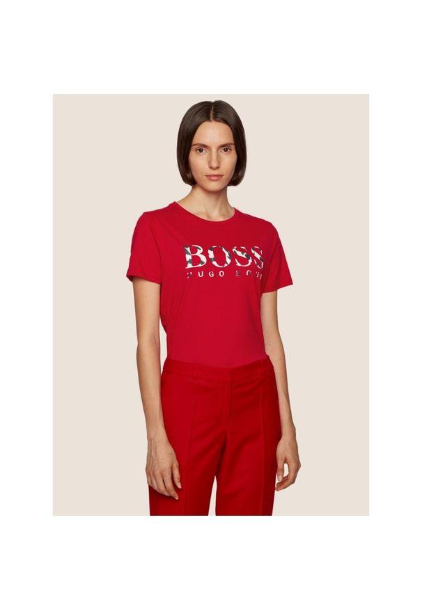Czerwony t-shirt BOSS