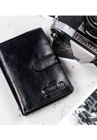 ALWAYS WILD - Portfel męski czarny Always Wild N4L-VTK-BOX-4497 BLA. Kolor: czarny. Materiał: skóra