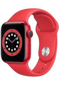 APPLE - Apple smartwatch Watch Series 6, 40mm PRODUCT(RED) Aluminium Case with PRODUCT(RED) Sport Band (M00A3HC/A). Rodzaj zegarka: smartwatch. Kolor: czerwony. Styl: sportowy