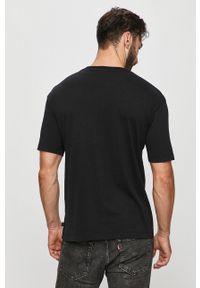 Czarny t-shirt Scotch & Soda casualowy, na co dzień