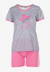 Born2be - Szaro-Różowy Komplet Piżamowy Phiodeia. Kolor: szary