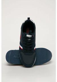 Niebieskie sneakersy U.S. Polo Assn z cholewką, na sznurówki