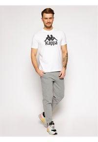Kappa T-Shirt Caspar 303910 Biały Regular Fit. Kolor: biały