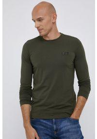 EA7 Emporio Armani - T-shirt/polo 8NPT55.PJM5Z. Okazja: na co dzień. Typ kołnierza: polo. Kolor: zielony. Materiał: dzianina. Długość rękawa: długi rękaw. Styl: casual