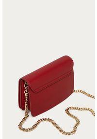 Czerwona kopertówka Trussardi Jeans na ramię, mała