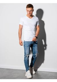 Biały t-shirt Ombre Clothing #3