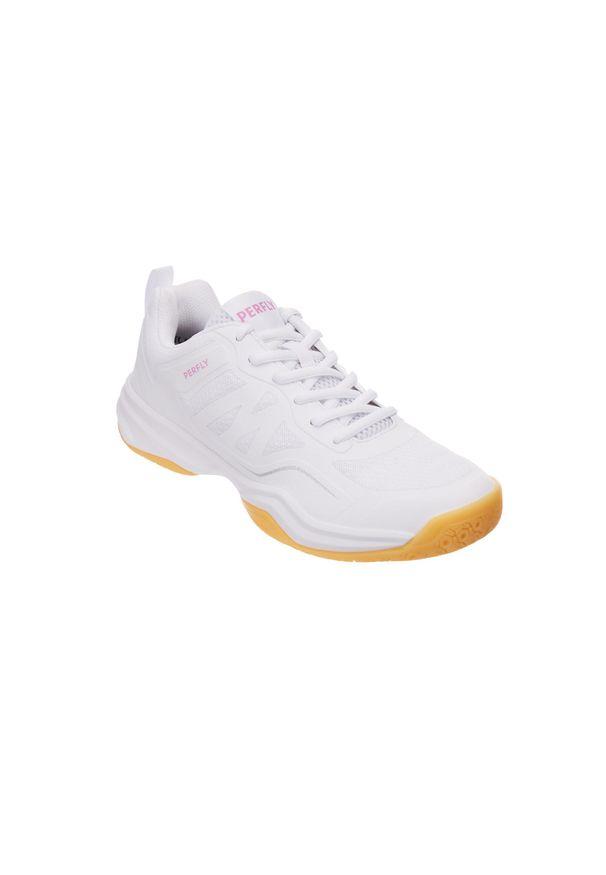 PERFLY - Buty do badmintona BS530 damskie. Kolor: biały. Szerokość cholewki: normalna