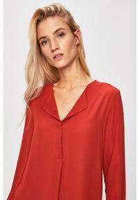Vila - Sukienka. Okazja: na co dzień. Kolor: pomarańczowy. Materiał: tkanina. Typ sukienki: proste. Styl: casual