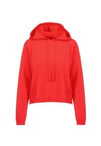 Sweter Allude z kapturem, sportowy, raglanowy rękaw