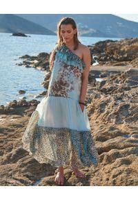 BY CABO - Wzorzysta sukienka maxi z jedwabiu SANTIAGO. Kolor: brązowy. Materiał: jedwab. Wzór: kolorowy, aplikacja. Sezon: lato. Styl: elegancki, glamour. Długość: maxi
