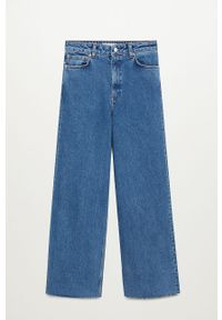 Niebieskie jeansy mango z podwyższonym stanem