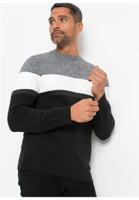 Czarny sweter bonprix klasyczny, melanż