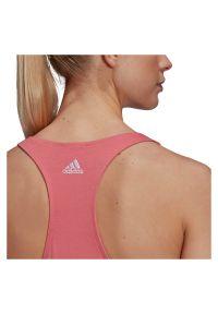 Adidas - Koszulka damska adidas Loungewear Essentials Tank Top GL0629. Materiał: bawełna. Długość rękawa: bez rękawów. Sport: fitness