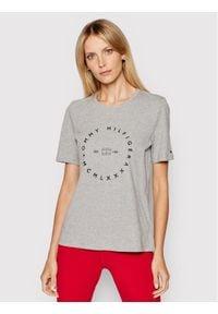 TOMMY HILFIGER - Tommy Hilfiger T-Shirt Circle C-Nk WW0WW29584 Szary Regular Fit. Kolor: szary