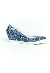 Półbuty Zapato w kolorowe wzory, biznesowe, na spotkanie biznesowe