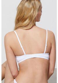Biały biustonosz Etam z odpinanymi ramiączkami